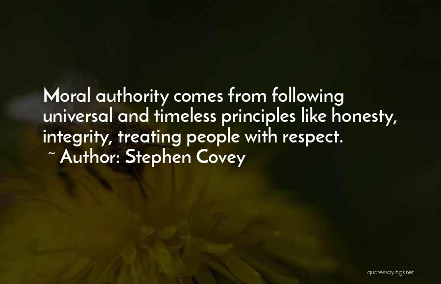 Honesty And Integrity Quotes By Stephen Covey