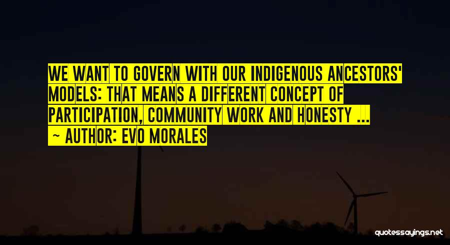 Honesty At Work Quotes By Evo Morales