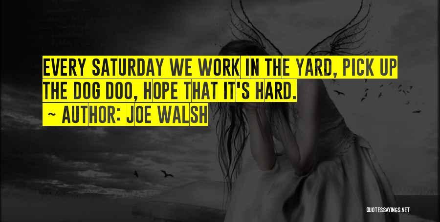 Honesty At Work Quotes By Joe Walsh