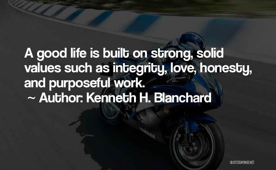 Honesty At Work Quotes By Kenneth H. Blanchard