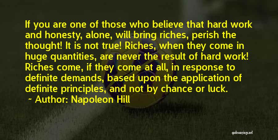 Honesty At Work Quotes By Napoleon Hill