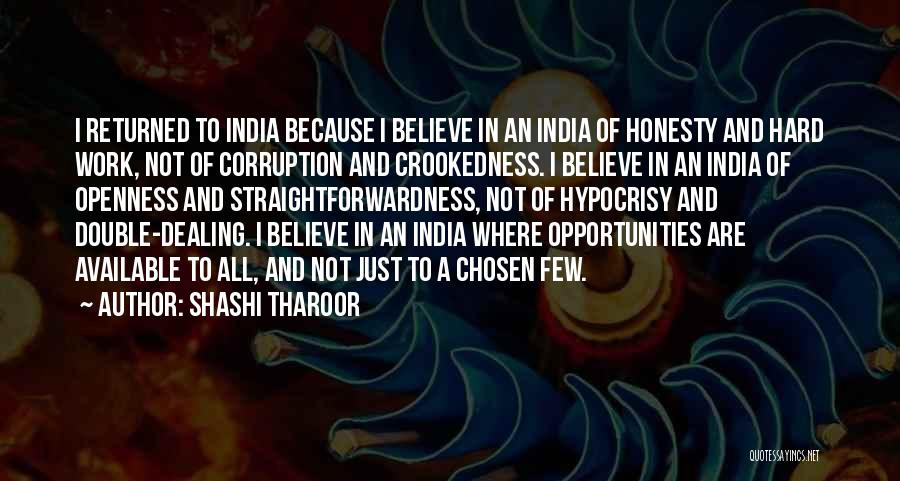 Honesty At Work Quotes By Shashi Tharoor