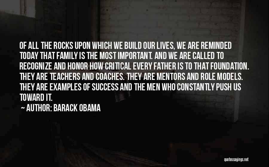Honor Your Family Quotes By Barack Obama