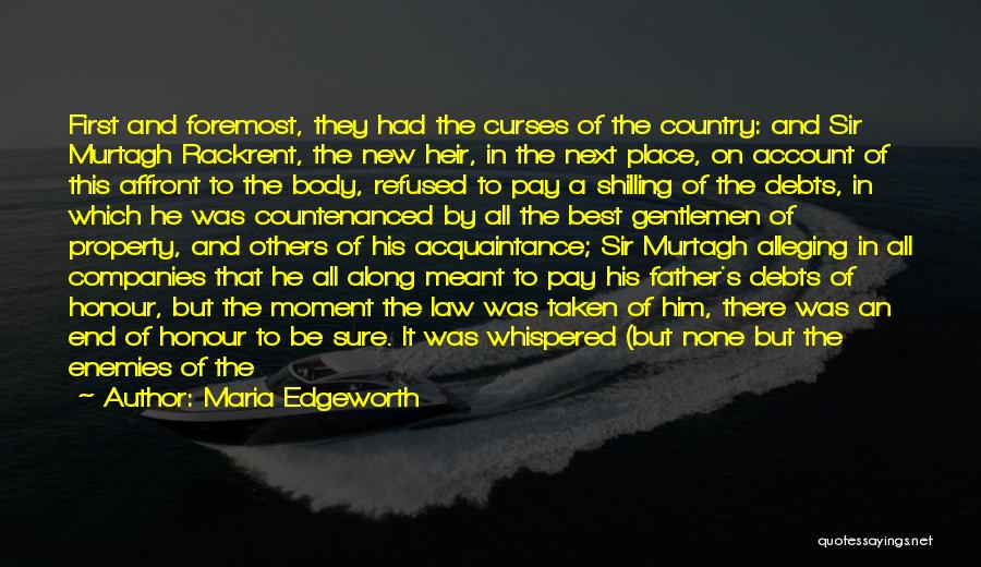 Honour Your Father Quotes By Maria Edgeworth