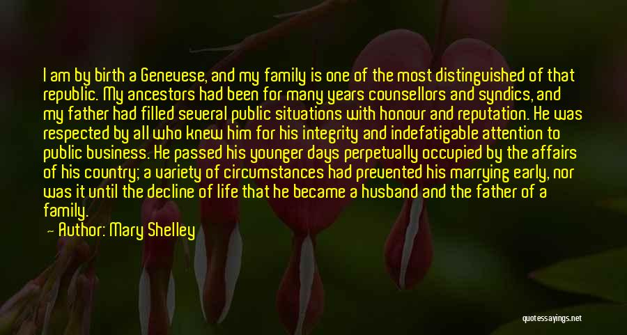 Honour Your Father Quotes By Mary Shelley