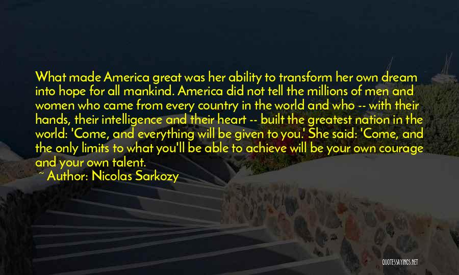 Hope And Hope Quotes By Nicolas Sarkozy