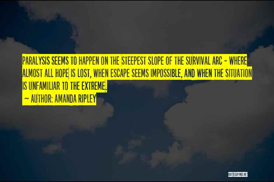 Hope And Survival Quotes By Amanda Ripley