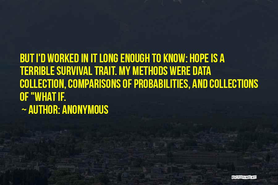 Hope And Survival Quotes By Anonymous