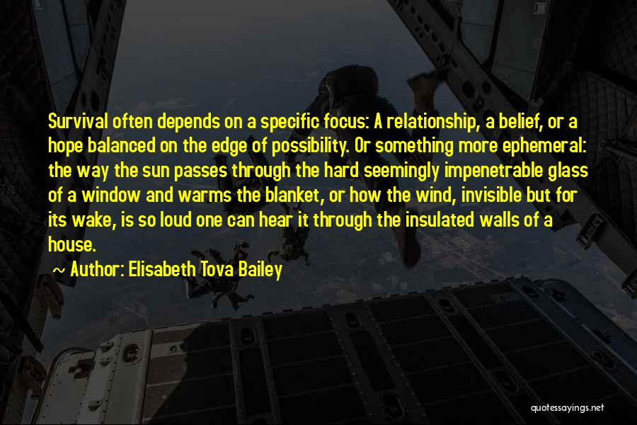 Hope And Survival Quotes By Elisabeth Tova Bailey