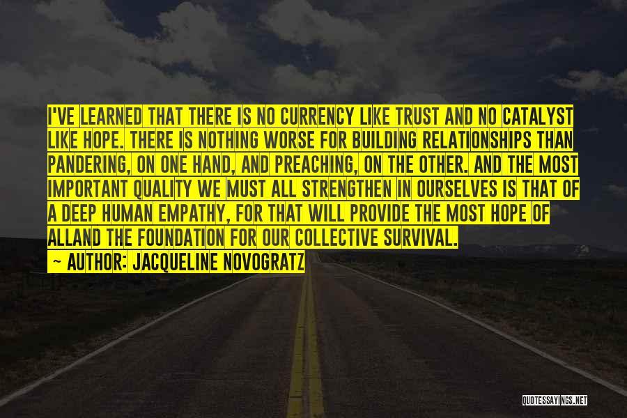 Hope And Survival Quotes By Jacqueline Novogratz