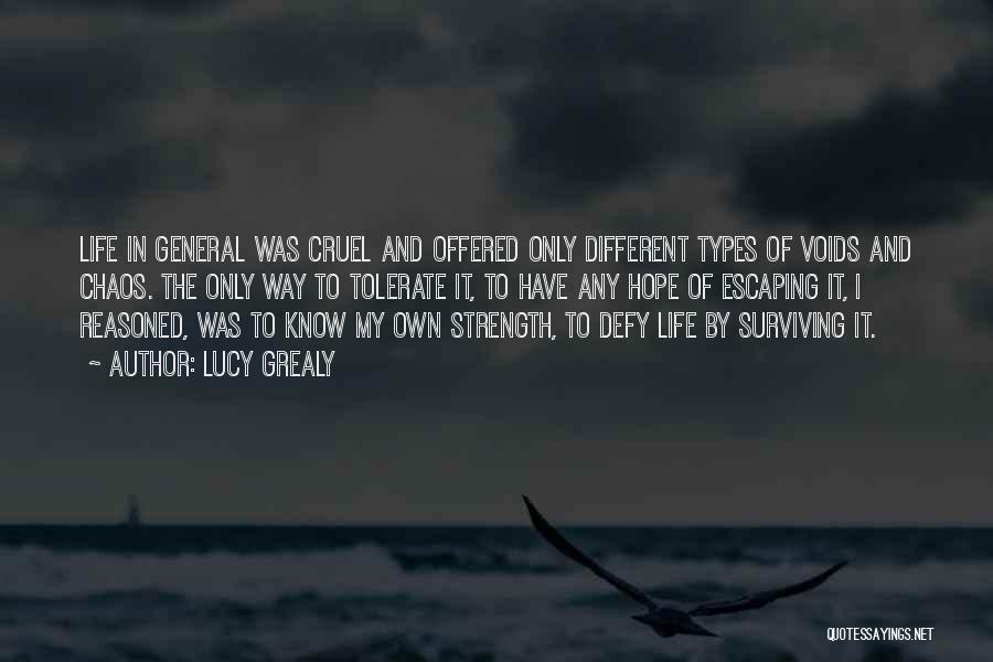 Hope And Survival Quotes By Lucy Grealy