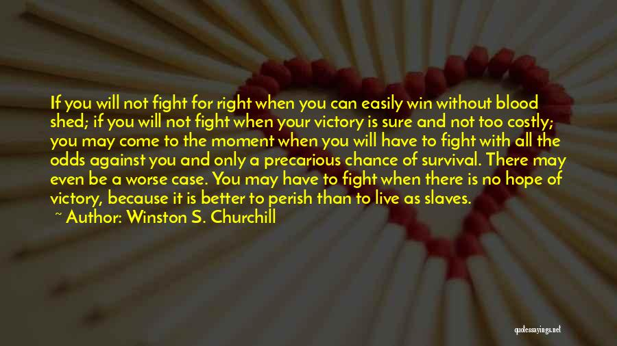 Hope And Survival Quotes By Winston S. Churchill