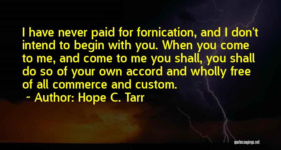 Hope C. Tarr Quotes 1935198