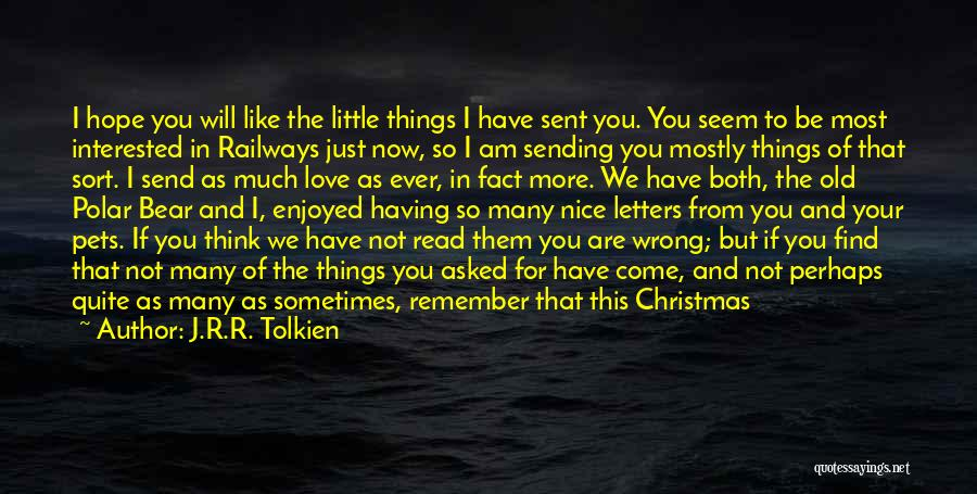 Hope Christmas Quotes By J.R.R. Tolkien