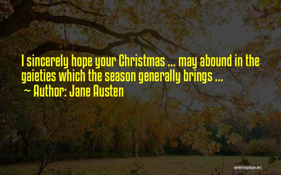 Hope Christmas Quotes By Jane Austen