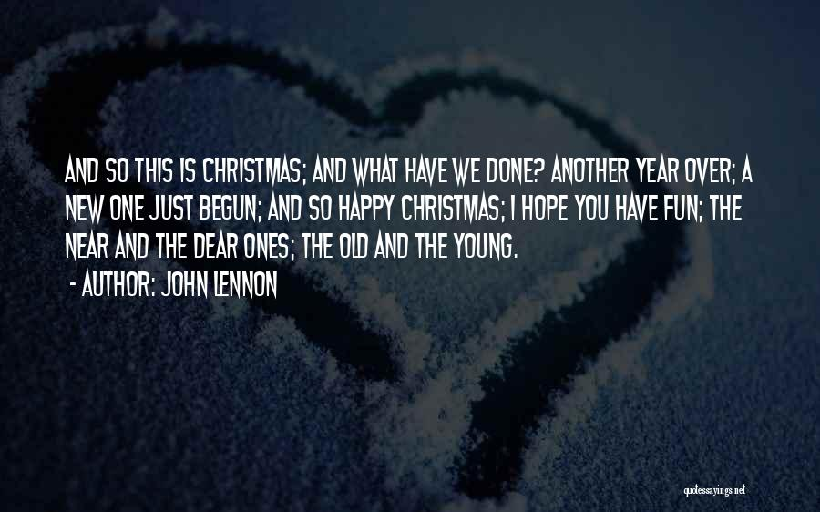 Hope Christmas Quotes By John Lennon