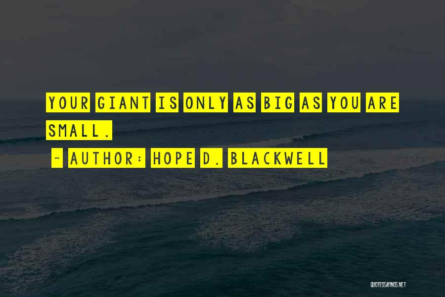 Hope D. Blackwell Quotes 1112579