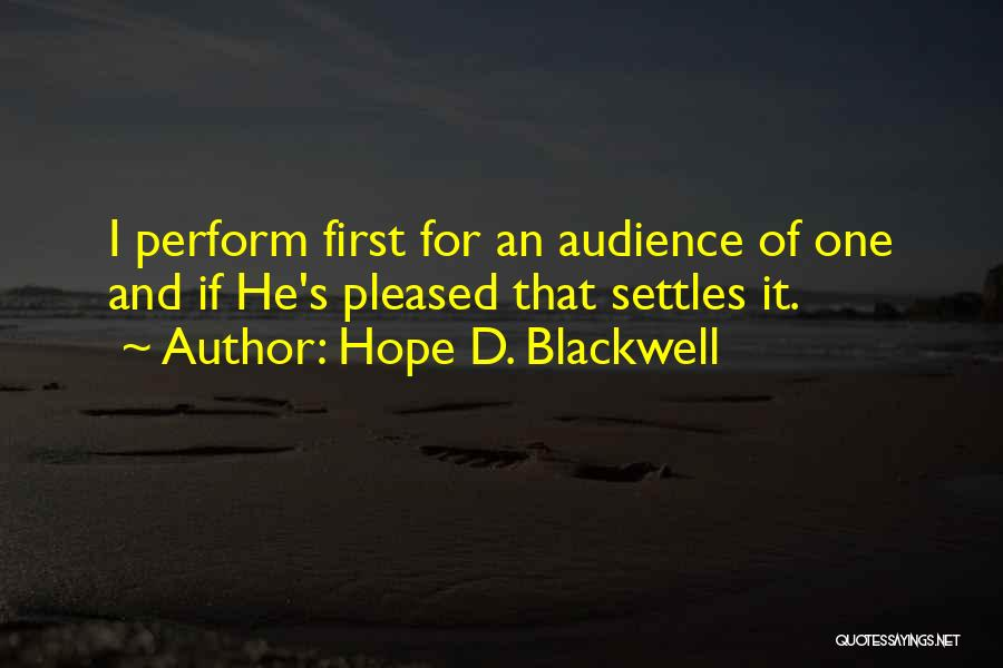 Hope D. Blackwell Quotes 1302945