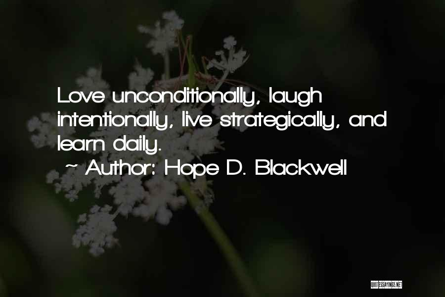Hope D. Blackwell Quotes 1665030