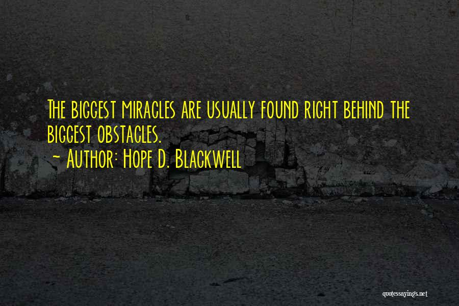 Hope D. Blackwell Quotes 1865167