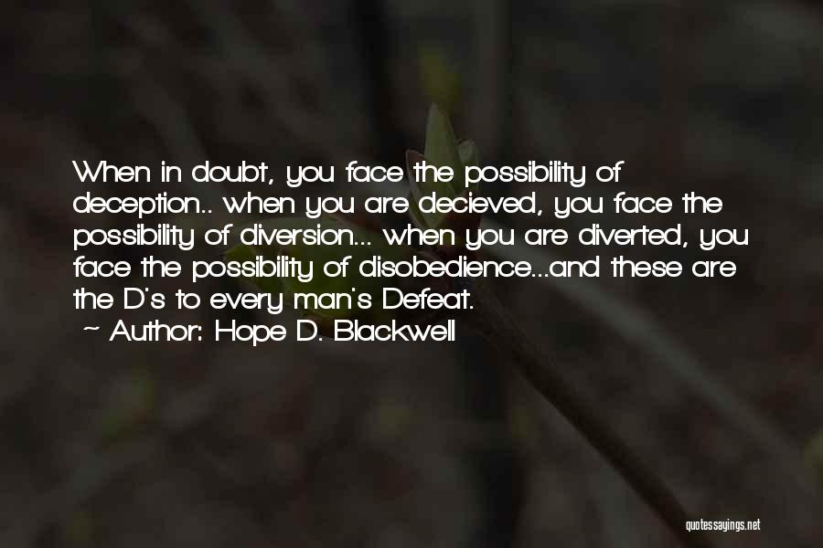 Hope D. Blackwell Quotes 1894270