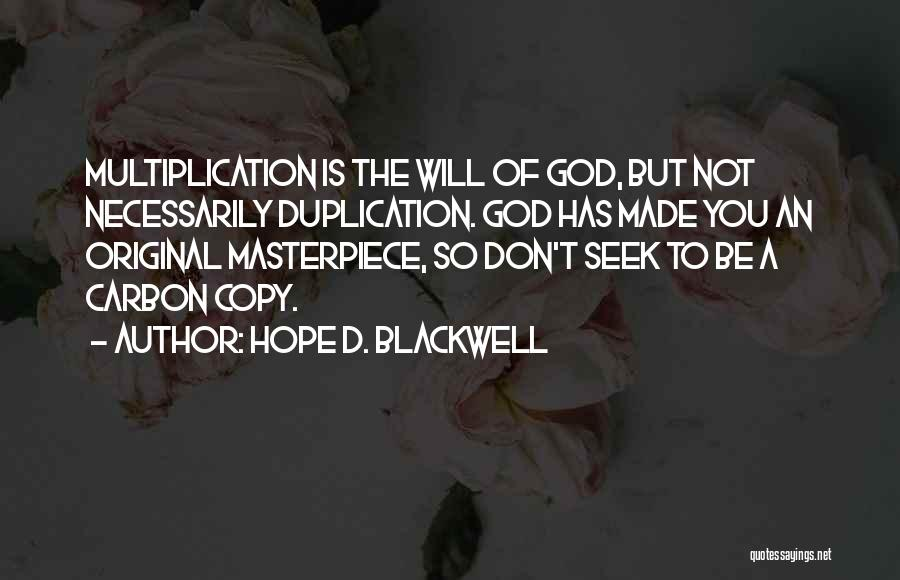 Hope D. Blackwell Quotes 2087998