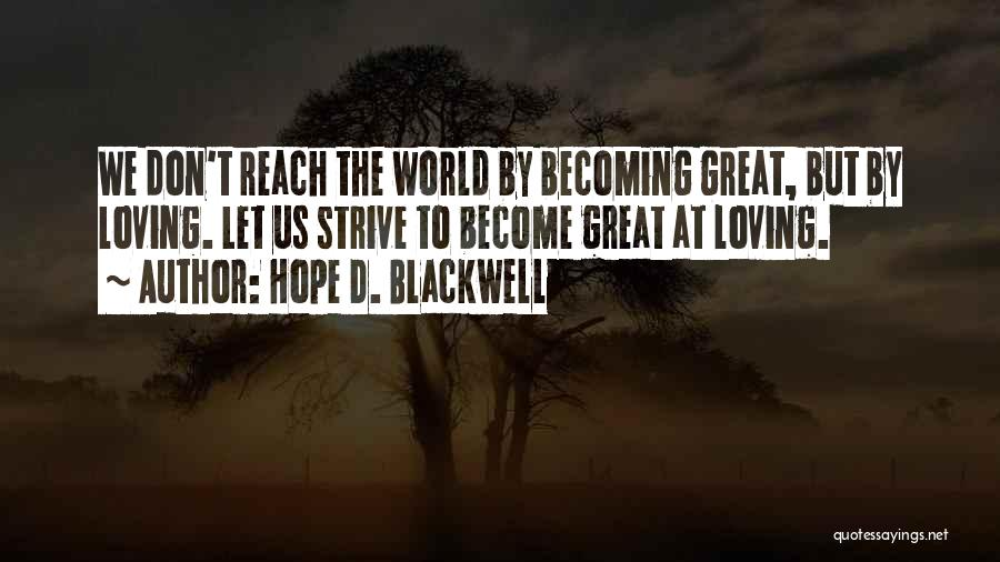 Hope D. Blackwell Quotes 2133150
