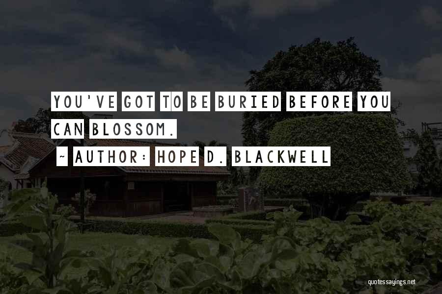 Hope D. Blackwell Quotes 248536