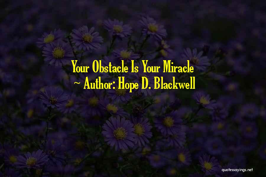 Hope D. Blackwell Quotes 369533
