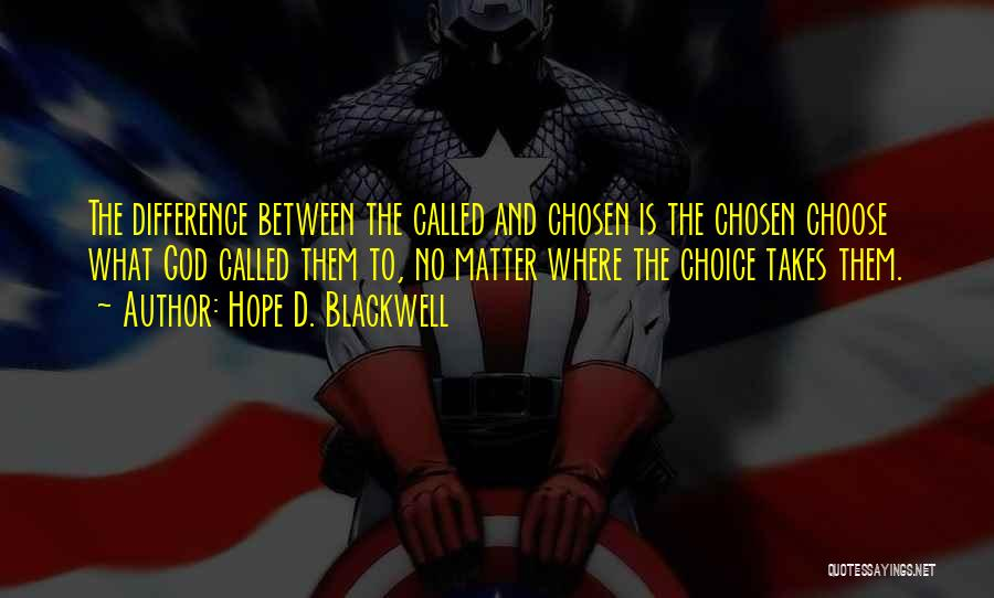 Hope D. Blackwell Quotes 926673
