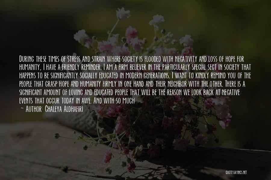 Hope For Tomorrow Quotes By Ghaleya Aldhafiri