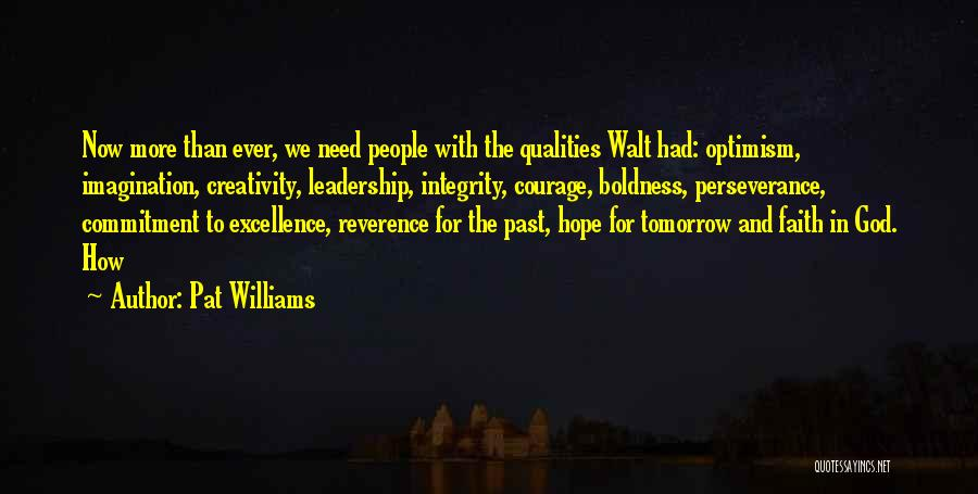 Hope For Tomorrow Quotes By Pat Williams