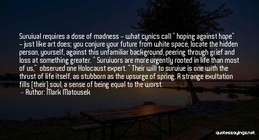 Hope In The Holocaust Quotes By Mark Matousek