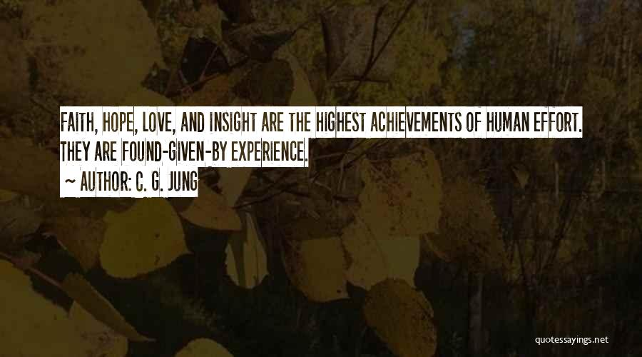 Hope Love And Faith Quotes By C. G. Jung