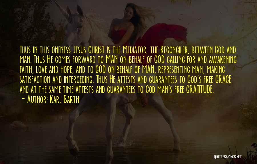 Hope Love And Faith Quotes By Karl Barth