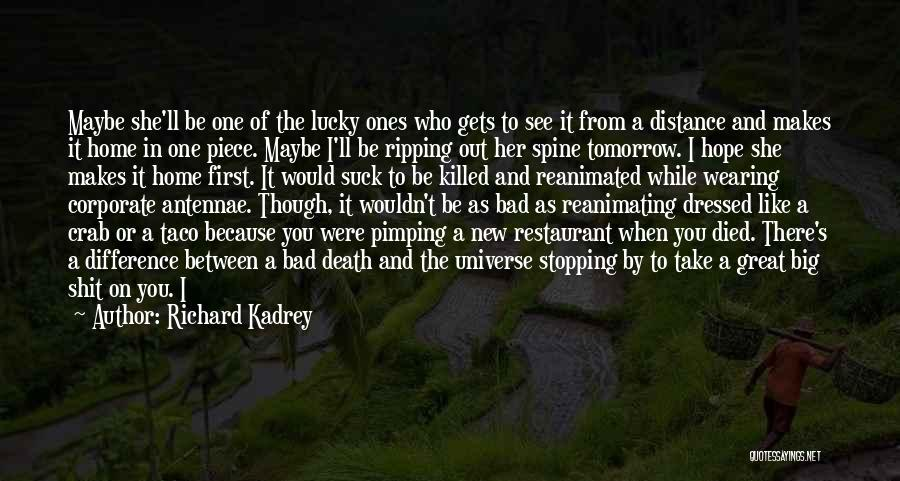 Hope To See You Tomorrow Quotes By Richard Kadrey