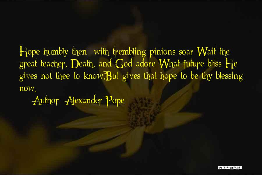 Hope With God Quotes By Alexander Pope