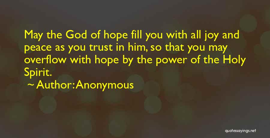 Hope With God Quotes By Anonymous