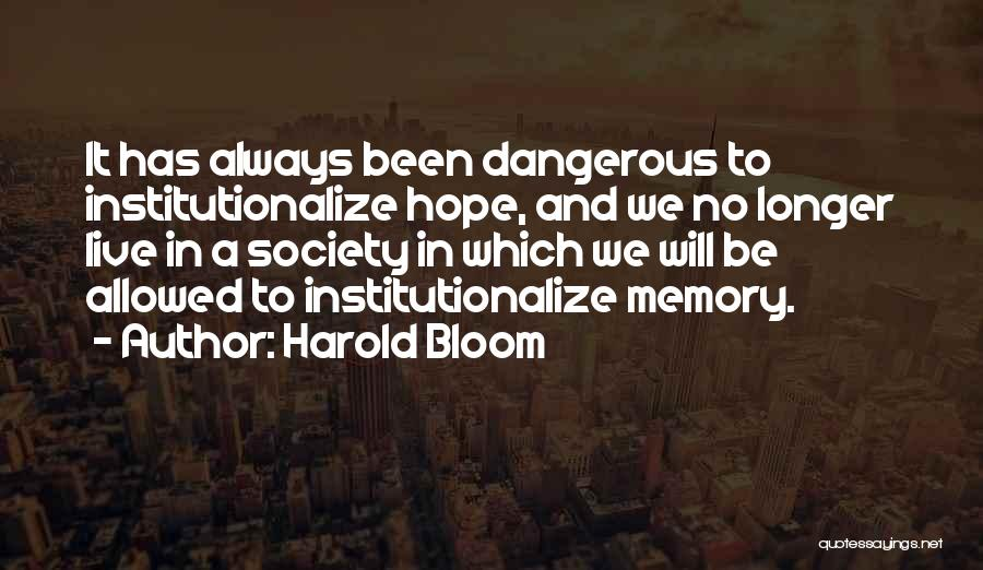 Hope With God Quotes By Harold Bloom