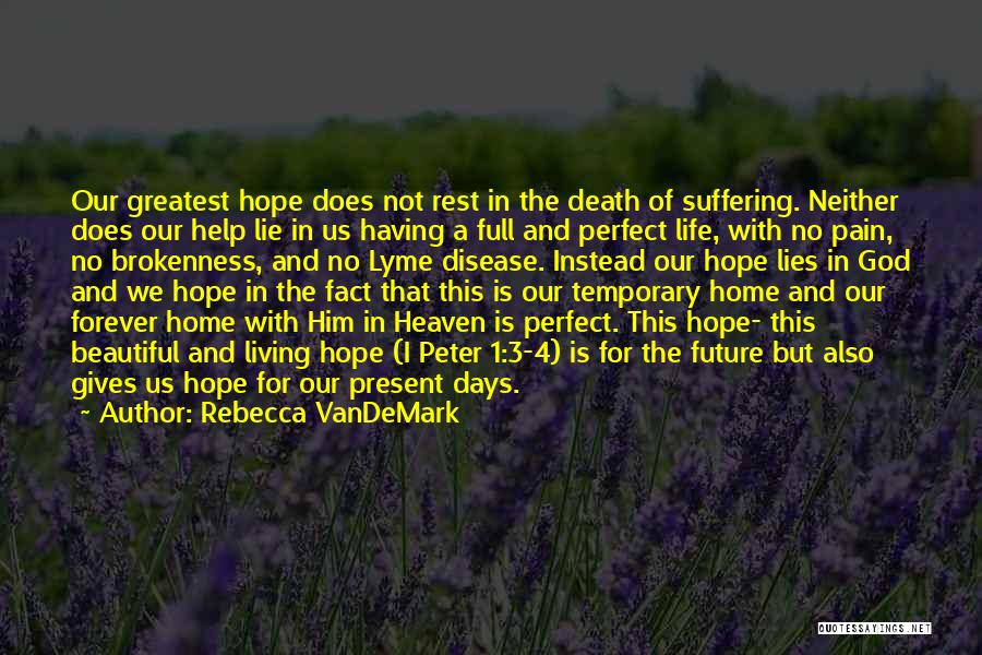 Hope With God Quotes By Rebecca VanDeMark