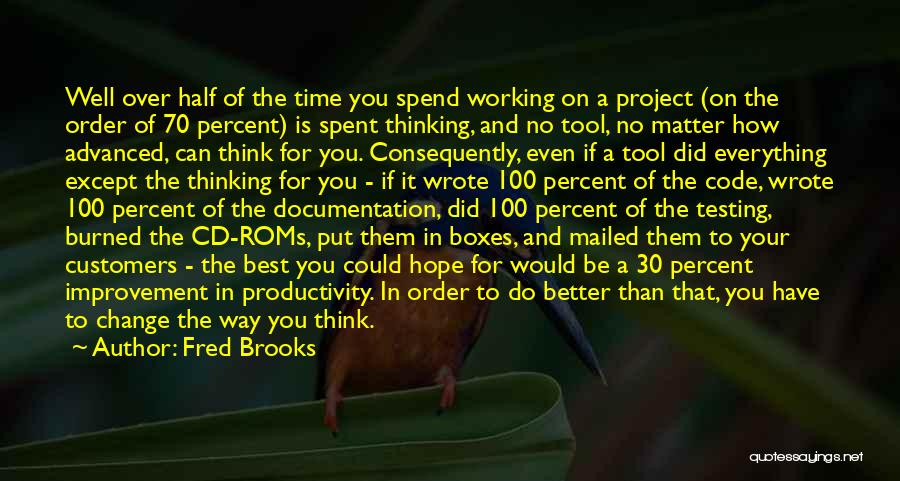 Hope You Change Quotes By Fred Brooks