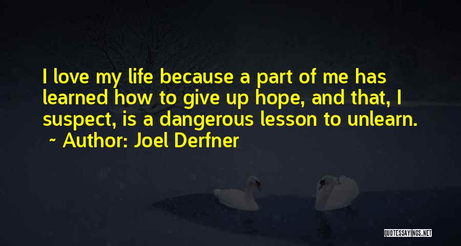 Hope You Learned Your Lesson Quotes By Joel Derfner