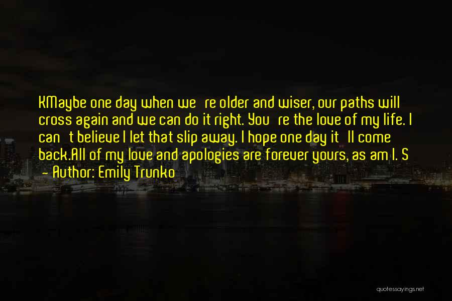 Hope You Will Come Back Quotes By Emily Trunko