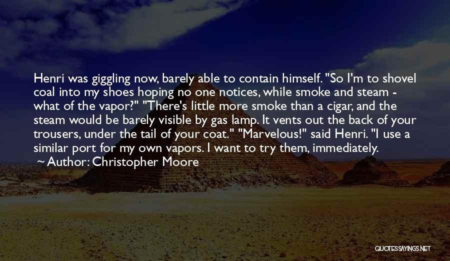 Hoping Someone Will Come Back Quotes By Christopher Moore