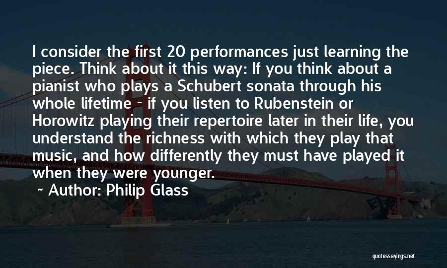 Horowitz Quotes By Philip Glass