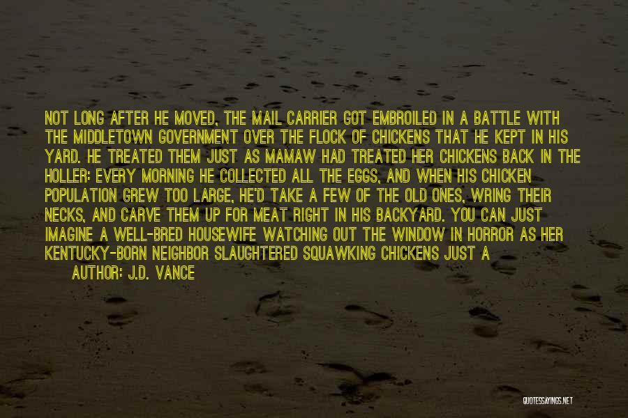 Horror Quotes By J.D. Vance