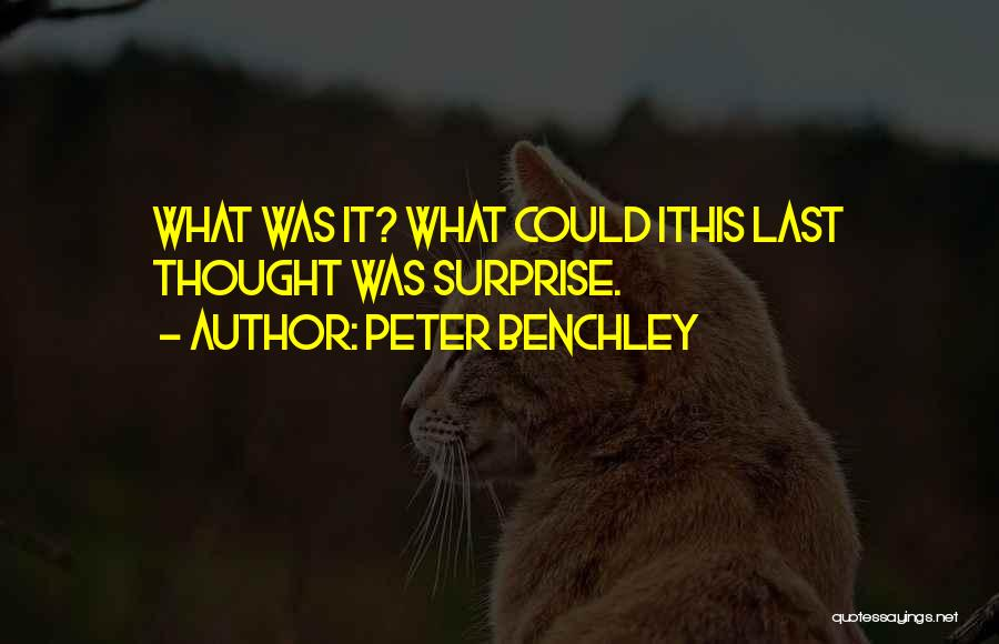 Horror Quotes By Peter Benchley