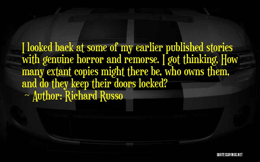 Horror Quotes By Richard Russo