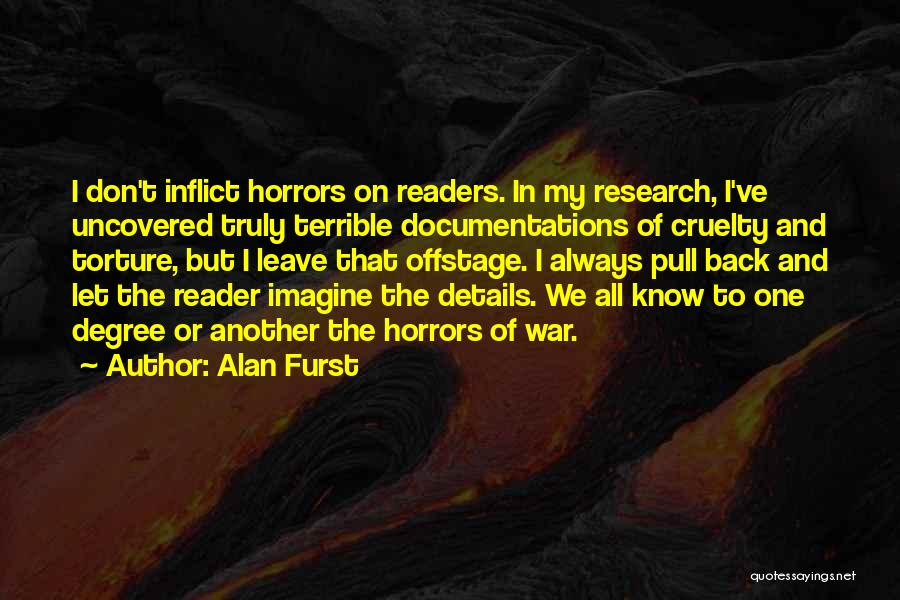Horrors Of War Quotes By Alan Furst