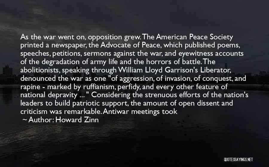 Horrors Of War Quotes By Howard Zinn